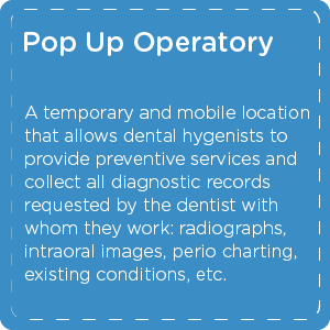 Definition of Pop Up Operatory for dental care