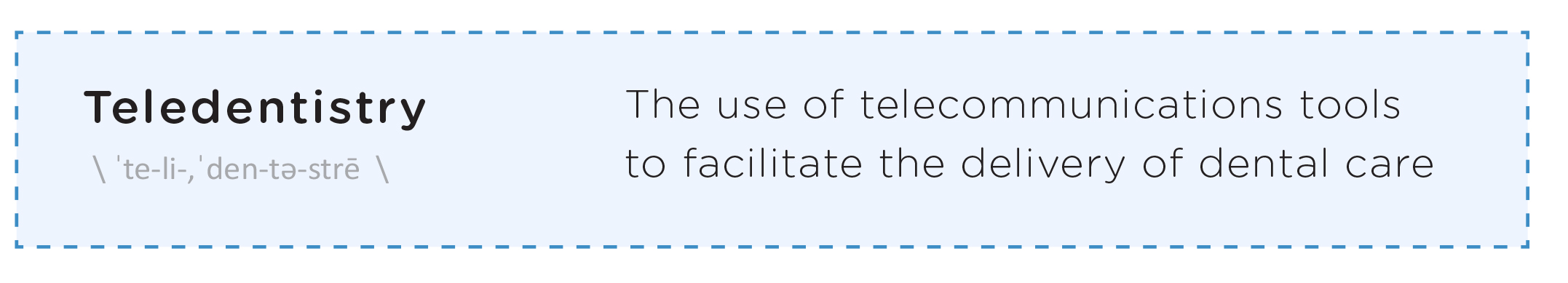 Definition Teledentistry