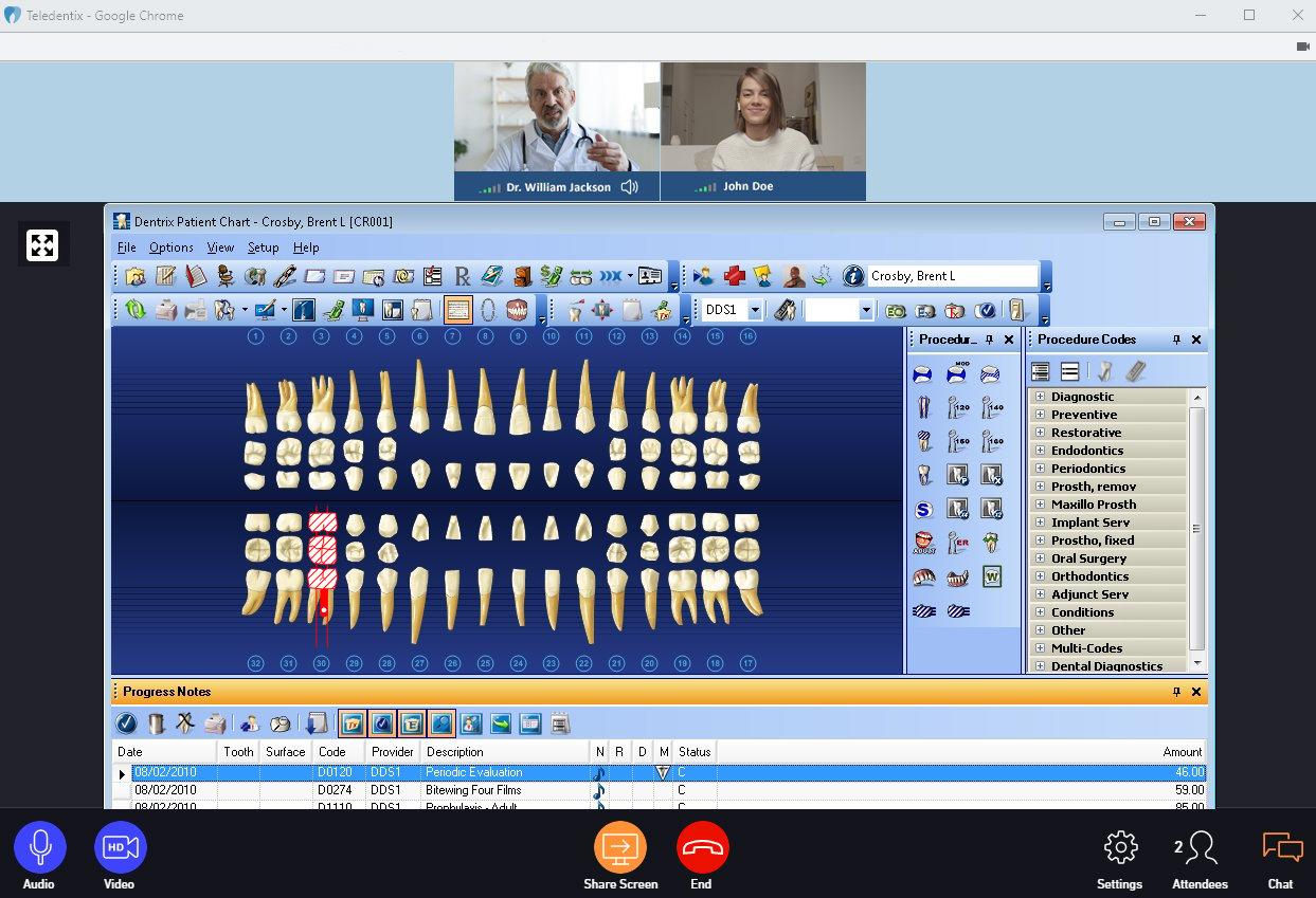 Virtual Visit Screenshare Example